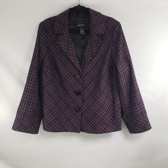 Lane Bryant Jackets & Blazers - Lane Bryant Pink and Purple Tweed Blazer